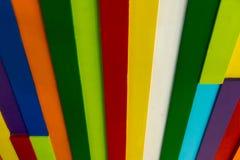 Διακοσμητική ξύλινη κεραμωμένη μωσαϊκό ζωηρόχρωμη σύσταση επιτροπής Ξύλινο Inte Στοκ Φωτογραφίες