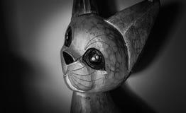 Διακοσμητική ξύλινη γάτα Στοκ Εικόνα