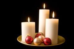 διακοσμητική παρουσίαση κεριών Στοκ Εικόνα