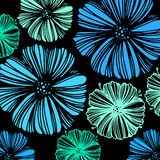 Διακοσμητική περίληψη σχεδίων απεικόνισης σχεδίου υποβάθρου λουλουδιών διανυσματική floral απεικόνιση αποθεμάτων