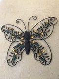 Διακοσμητική πεταλούδα μετάλλων στοκ εικόνα