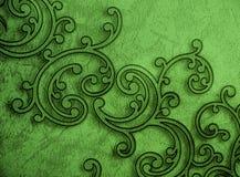 Διακοσμητική πράσινη ταπετσαρία σχεδίων Στοκ φωτογραφία με δικαίωμα ελεύθερης χρήσης