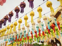 Διακοσμητική πόλη Yi Peng παράδοσης λαμπτήρων, Lamphun στοκ φωτογραφίες με δικαίωμα ελεύθερης χρήσης