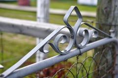 Διακοσμητική πύλη κήπων μετάλλων Στοκ Εικόνες