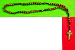 Διακοσμητική σελίδα με rosary Στοκ Εικόνες