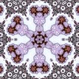 Διακοσμητική στρογγυλή λουλούδι ή snowflake διακόσμηση ή mandala Στοκ φωτογραφίες με δικαίωμα ελεύθερης χρήσης