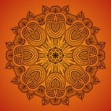Διακοσμητική στρογγυλή δαντέλλα pattern_1 Στοκ Εικόνα