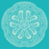 Διακοσμητική στρογγυλή δαντέλλα, snowflake Στοκ φωτογραφία με δικαίωμα ελεύθερης χρήσης