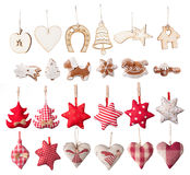 Διακοσμητική συλλογή Χριστουγέννων Στοκ φωτογραφία με δικαίωμα ελεύθερης χρήσης
