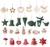 Διακοσμητική συλλογή Χριστουγέννων Στοκ φωτογραφίες με δικαίωμα ελεύθερης χρήσης