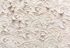 Διακοσμητική σύσταση ασβεστοκονιάματος, σχέδιο λουλουδιών Στοκ εικόνες με δικαίωμα ελεύθερης χρήσης