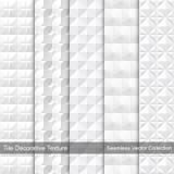 Διακοσμητική σύσταση κεραμιδιών άνευ ραφής διάνυσμα προτύπων Στοκ Εικόνα