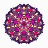 Διακοσμητική φυλετική ροζέτα διακοσμήσεων mandala επίσης corel σύρετε το διάνυσμα απεικόνισης Στοκ Εικόνες