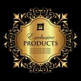Διακοσμητική χρυσή ετικέτα πολυτέλειας - διανυσματικό σχέδιο Στοκ φωτογραφία με δικαίωμα ελεύθερης χρήσης