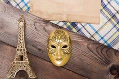 Διακοσμητική χρυσή μάσκα Στοκ εικόνες με δικαίωμα ελεύθερης χρήσης