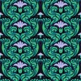 διακοσμητική floral εκλεκτής ποιότητας ταπετσαρία Στοκ φωτογραφία με δικαίωμα ελεύθερης χρήσης