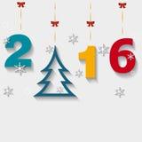 Διακοσμητικοί αριθμοί και δέντρο, σύμβολο των Χριστουγέννων Στοκ Εικόνες