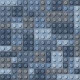 Διακοσμητικοί κύβοι οικοδόμησης - άνευ ραφής σχέδιο - μπλε τζιν τζιν Στοκ Φωτογραφίες