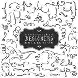 Διακοσμητικοί μπούκλες και στρόβιλοι Συλλογή σχεδιαστών διανυσματική απεικόνιση
