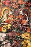 Διακοσμητικοί τάπητες στην αγορά του Σαντιάγο de Atitlan Στοκ εικόνες με δικαίωμα ελεύθερης χρήσης