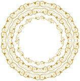 Διακοσμητικοί floral κύκλοι Στοκ φωτογραφίες με δικαίωμα ελεύθερης χρήσης