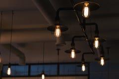 Διακοσμητικός λαμπτήρας, που φωτίζει το δωμάτιο Στοκ Εικόνα