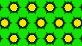 Διακοσμητικός γεωμετρικός κύκλος caleidoscope που κινεί δυναμικό ζωντανεψοντα ζωηρόχρωμο χαρούμενο ποιοτικών καθολικό κινήσεων σχ διανυσματική απεικόνιση