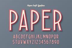 Διακοσμητικός εκλεκτής ποιότητας χαρακτήρας τεχνών εγγράφου, πηγή, σχέδιο χαρακτήρων ελεύθερη απεικόνιση δικαιώματος
