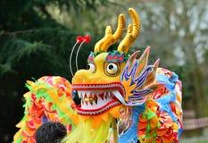 Διακοσμητικός κινεζικός δράκος διακοπών Στοκ εικόνες με δικαίωμα ελεύθερης χρήσης