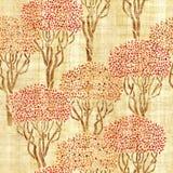 Διακοσμητικός οπωρώνας ελιών - άνευ ραφής υπόβαθρο διανυσματική απεικόνιση