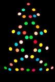 Διακοσμητικός πολύχρωμος φωτισμός στο χριστουγεννιάτικο δέντρο Στοκ εικόνες με δικαίωμα ελεύθερης χρήσης