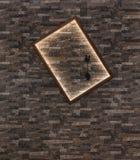 Διακοσμητικός τοίχος και φωτισμένος διακοσμητικός στοκ φωτογραφία
