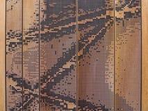 διακοσμητικός τοίχος φιαγμένος από μέταλλο στοκ εικόνες