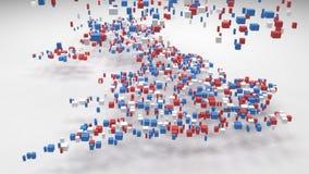 Διακοσμητικός χάρτης της Μεγάλης Βρετανίας - Ευρώπη - ελεύθερη απεικόνιση δικαιώματος