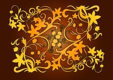 διακοσμητικός χρυσός στ&o απεικόνιση αποθεμάτων