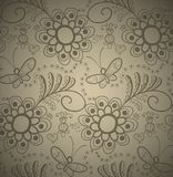 διακοσμητικός floral άνευ ραφή& ελεύθερη απεικόνιση δικαιώματος