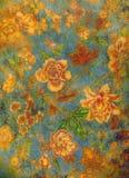 διακοσμητικός floral ανασκόπη& Στοκ εικόνες με δικαίωμα ελεύθερης χρήσης