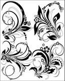 διακοσμητικός floral δεσμών διανυσματική απεικόνιση