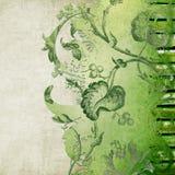 διακοσμητικός floral πράσινο&sigmaf Στοκ φωτογραφίες με δικαίωμα ελεύθερης χρήσης