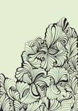 διακοσμητικός floral στρόβιλ&omic Στοκ Φωτογραφία