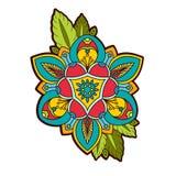 Διακοσμητικός peony, αυξήθηκε λουλούδι με ένα μάτι της πρόνοιας Στοκ εικόνες με δικαίωμα ελεύθερης χρήσης