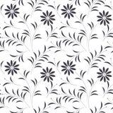 Διακοσμητικό άνευ ραφής σχέδιο με τα όμορφα chamomile λουλούδια και Στοκ φωτογραφίες με δικαίωμα ελεύθερης χρήσης