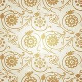 Διακοσμητικό άνευ ραφής σχέδιο στο οθωμανικό μοτίβο Στοκ Φωτογραφία