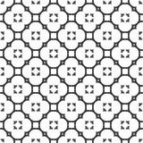 Διακοσμητικό άνευ ραφής Floral γεωμετρικό μαύρο & άσπρο υπόβαθρο σχεδίων Στοκ εικόνες με δικαίωμα ελεύθερης χρήσης