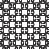 Διακοσμητικό άνευ ραφής Floral γεωμετρικό μαύρο & άσπρο υπόβαθρο σχεδίων Στοκ φωτογραφία με δικαίωμα ελεύθερης χρήσης