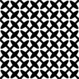 Διακοσμητικό άνευ ραφής Floral γεωμετρικό μαύρο & άσπρο υπόβαθρο σχεδίων Στοκ Φωτογραφία