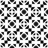 Διακοσμητικό άνευ ραφής Floral γεωμετρικό μαύρο & άσπρο υπόβαθρο σχεδίων Στοκ Εικόνες
