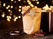 Διακοσμητικό απλό δώρο Χριστουγέννων χωρών Στοκ Εικόνα