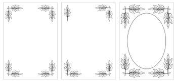 διακοσμητικό αρχικό σύνολο πλαισίων Στοκ φωτογραφία με δικαίωμα ελεύθερης χρήσης