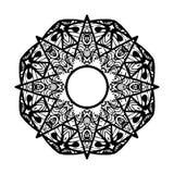 Διακοσμητικό αστέρι διακόσμηση γύρω από το διάν&upsil Εθνικό Mandala ελαφρύς διανυσματικός κόσμος τέχνης Στοκ φωτογραφία με δικαίωμα ελεύθερης χρήσης